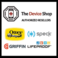 The Device Shop is an authorized reseller of Otterbox, Speck, Griffin and Lifeproof